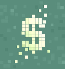 Dollar Sign Pixel Art