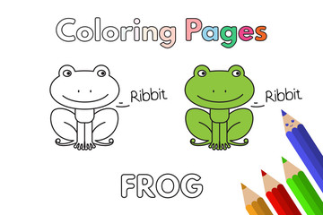 Cartoon Frog Coloring Book