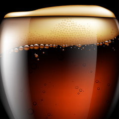 Abstract beer background. Highly realistic illustration with the effect of transparency.