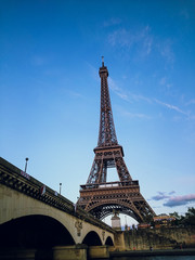 eiffel tower from canal cruise
