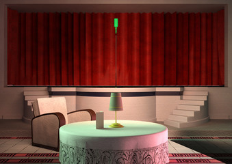 3D Rendering Night Club Interior