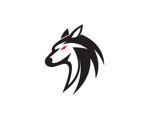 Wolf Logo Template vector illustration design