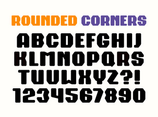 Sanserif square font with rounded corners