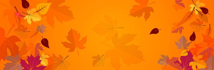 Banner on the autumn theme