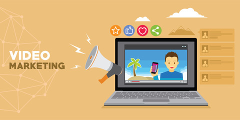 video marketing with vlog and advertising