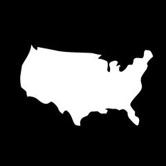 united states map. vector map.