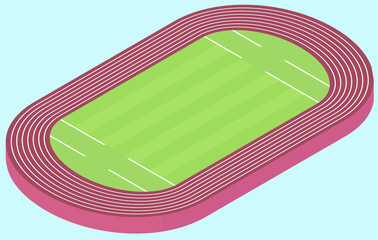 Stadium for olympic games flat image