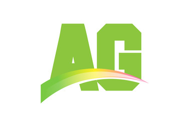AG Initial Logo for your startup venture