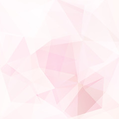 Background made of pastel pink, white triangles. Square composition with geometric shapes. Eps 10