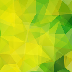 Abstract geometric style background. Green, yellow colors. Vector illustration