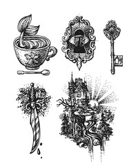 sketch style illustration