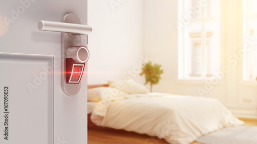 smart home lock t r mit fingerabdruck scanner stockfotos und lizenzfreie bilder auf fotolia. Black Bedroom Furniture Sets. Home Design Ideas
