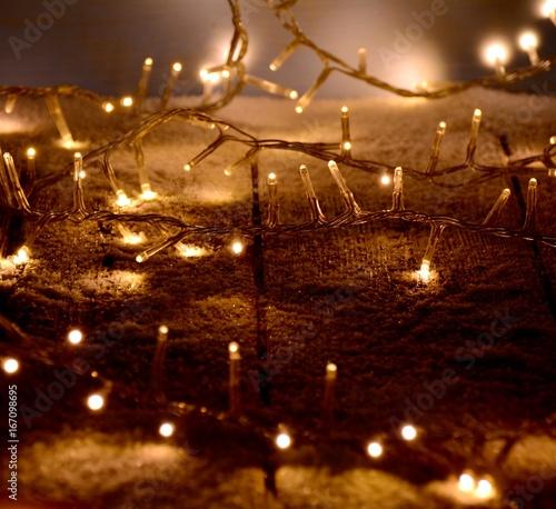 Grußkarte   Lichterkette