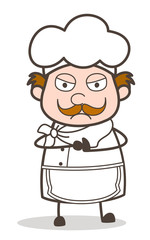 Cartoon Chef Offensive Expression Vector