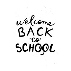 Welcome back to school doodle  poster.
