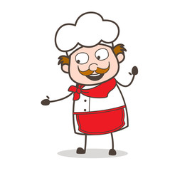 Cartoon Friendly Chef Vector Character