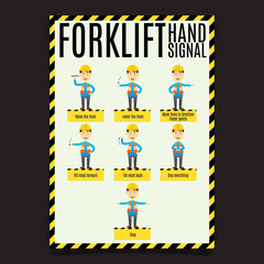Forklift Hand Signal Poster.