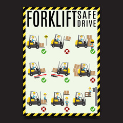 Forklift Safe Drive Set.