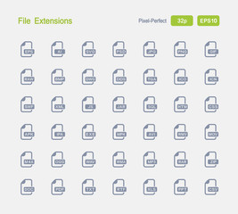 File Extensions - Granite Icons