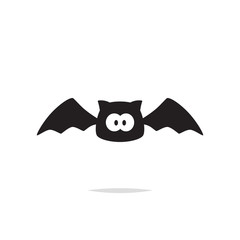 Cute bat vector isolated