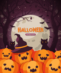 Halloween pumpkins in Spooky Forest