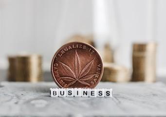 Marijuana business coin