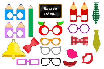 Back to School Photo booth Props. PRINTABLE