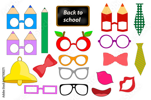 back to school photo booth props printable stock image and royalty