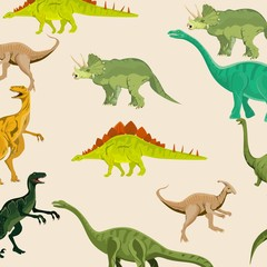 Vector set of dinosaurs