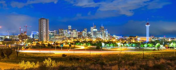 Denver City Skyline at Dusk
