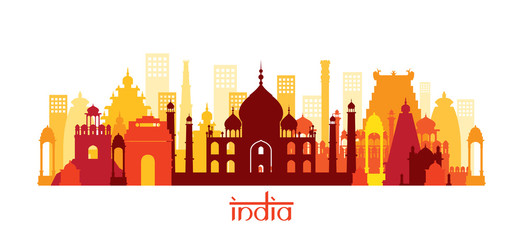 India Architecture Landmarks Skyline, Shape