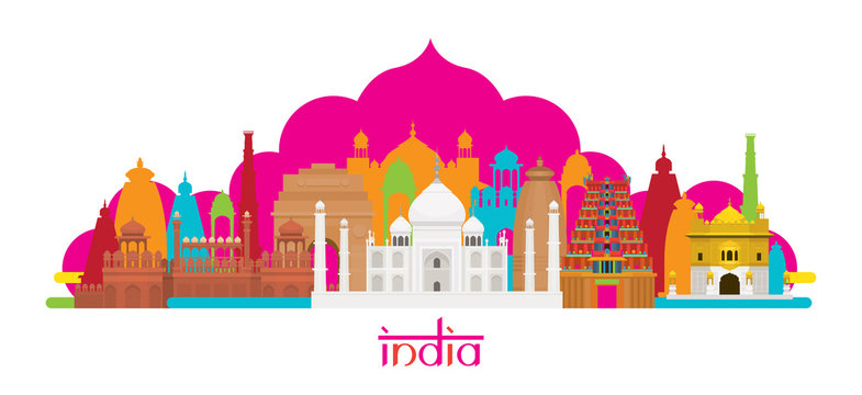 India Architecture Landmarks Skyline