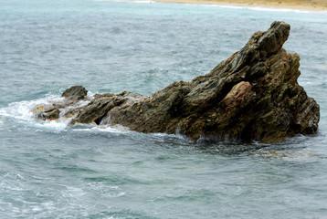 Cornwall coastline with Ocean views at summertime