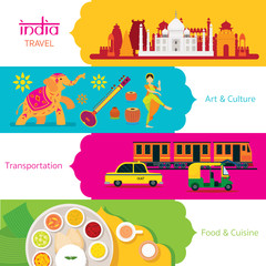 India Travel, Banner Set