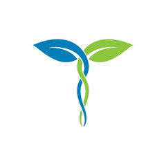 medical nature leaf logo template