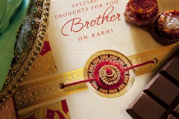 Rakhi and greeting card