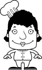 Cartoon Smiling Chef Woman