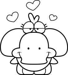 Cartoon Duckling Love