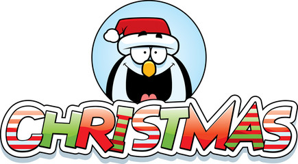 Cartoon Penguin Christmas Graphic