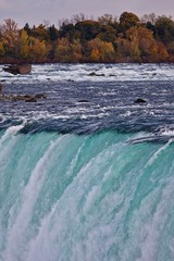 Beautiful isolated picture of amazing powerful Niagara waterfall
