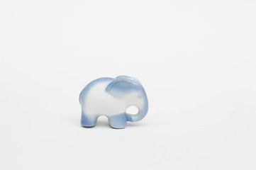 Miniature porcelain elephant figurine