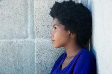Thoughtful african american woman