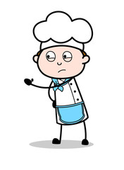 Cartoon Chef Showing Slap in Aggression Vector Illustration