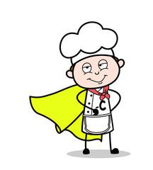 Cartoon Super Hero Chef Character