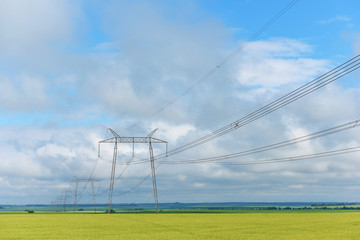 Very long wires and large power transmission poles