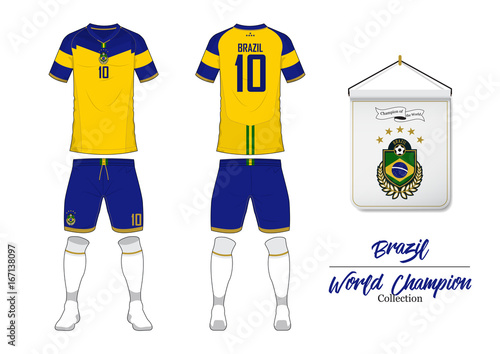 3f4a1389fd6 Soccer jersey or football kit in World Championship Collection. Brazil  football national team. Football