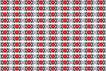 Flowery stripes pattern