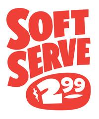 Soft Serve Ice Cream sign painter poster