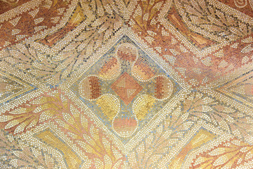 Roman mosaic background. La Olmeda, Palencia, Spain