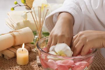 Hand spa treatment